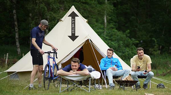 afbeelding van de glamping tent